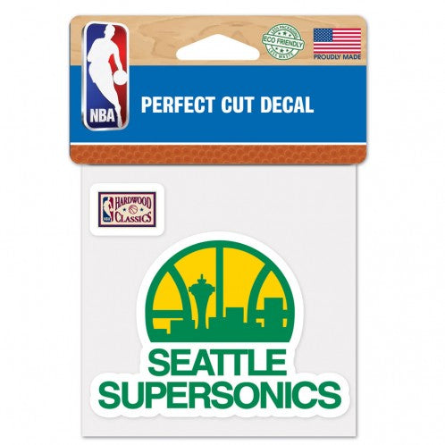 "Load image into Gallery viewer, 4""x4"" Seattle Supersonics Logo Perfect Cut Color Decal"