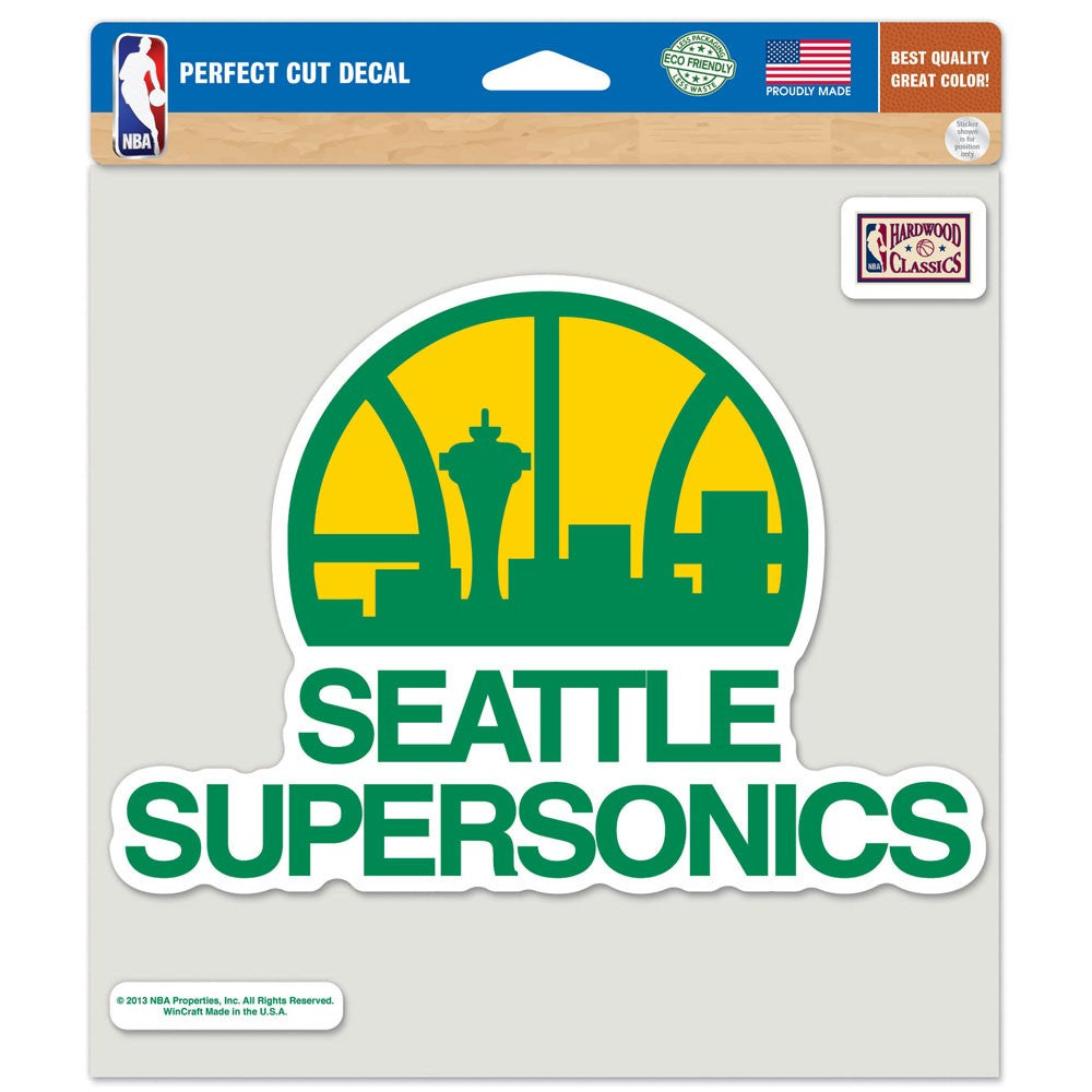"Load image into Gallery viewer, 8""x8"" Seattle Supersonics Perfect Cut Color Decal"