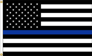 3x5 Thin Blue Line American Outdoor Nylon Flag