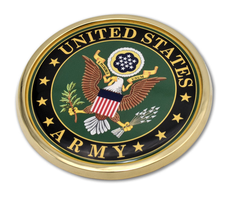 Load image into Gallery viewer, US Army Chrome Automobile Emblem