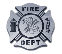 Load image into Gallery viewer, Fire Department Chrome Automobile Emblem
