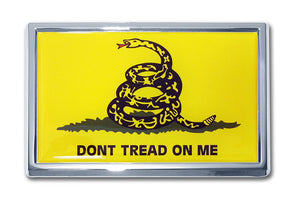 Gadsden Flag Chrome Automobile Emblem