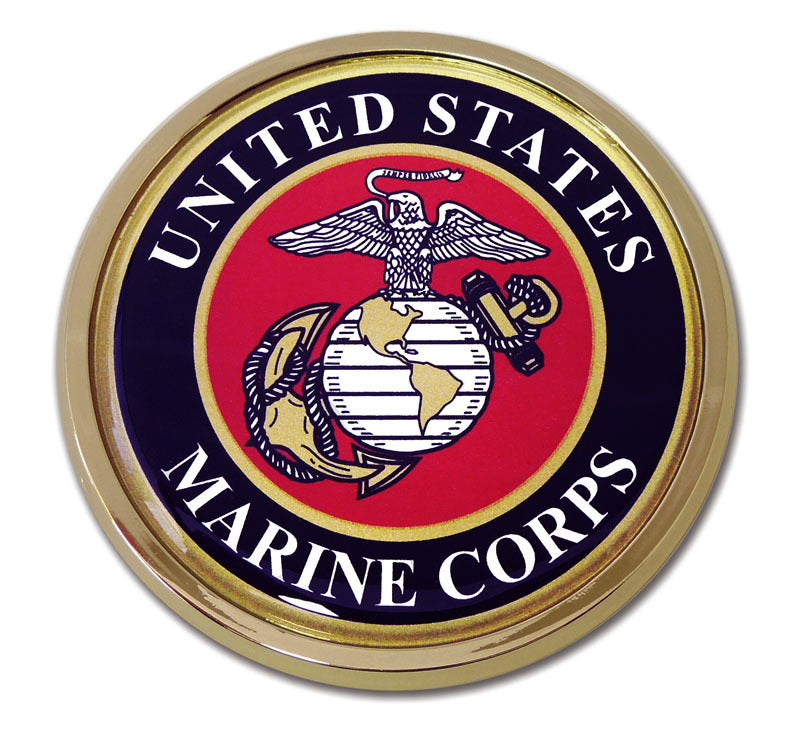 Load image into Gallery viewer, US Marine Corps Chrome Automobile Emblem