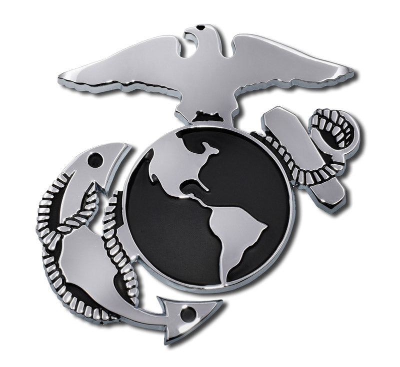 Load image into Gallery viewer, US Marine Corps Insignia Chrome Automobile Emblem
