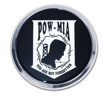 Load image into Gallery viewer, POW/MIA Chrome Automobile Emblem