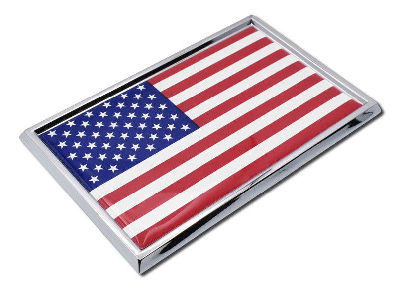 Load image into Gallery viewer, American Flag Chrome Automobile Emblem