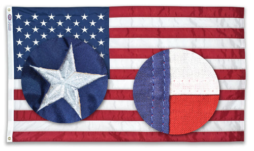 5x9.5 American Sewn Cotton Burial Flag