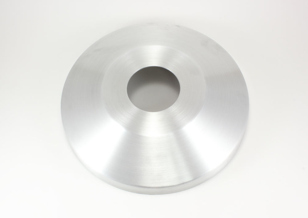 "Load image into Gallery viewer, 3"" spun aluminum flash collar with Natural Satin finish"