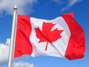 8x12 Canada Outdoor Applique Nylon Flag