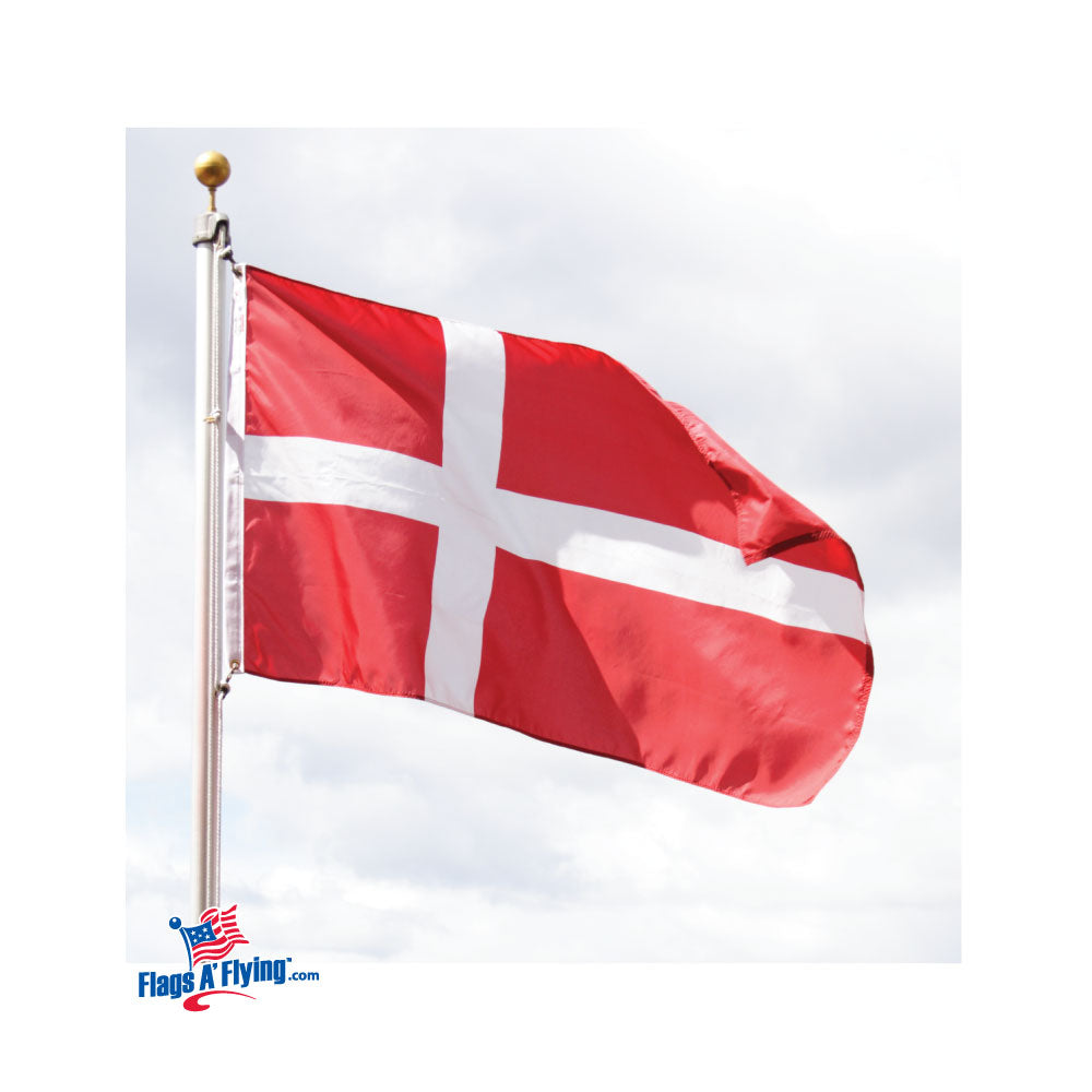 Load image into Gallery viewer, 3x5 Denmark Outdoor Nylon Flag