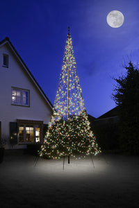 Christmas Tree Light Kit for 20' flagpole - 1200 LED Count Multi-Colored Lights