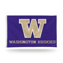Load image into Gallery viewer, 3x5 University of Washington Huskies Team Flag; Polyester H&G