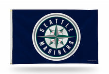 Load image into Gallery viewer, 3x5 Seattle Mariners Compass Team Flag; Polyester H&G