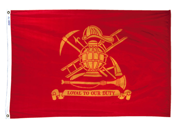 3x5 Loyal to Our Duty Firefighter Outdoor Nylon Flag