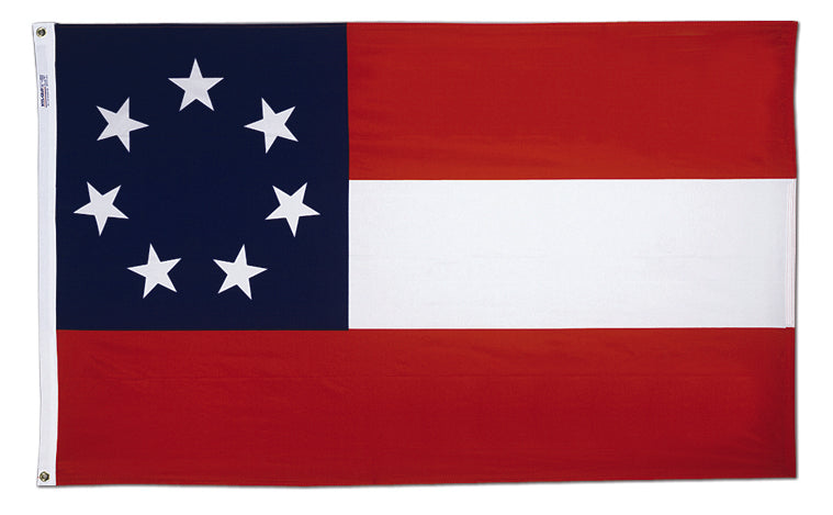 Load image into Gallery viewer, 3x5 Stars & Bars First National Confederate Historical Cotton Flag