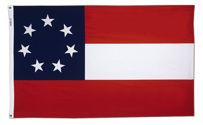 3x5 Stars & Bars First National Confederate Historical Cotton Flag