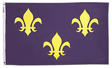 Load image into Gallery viewer, 5x8 French Fleur de lis with Blue Background Historical Nylon Flag