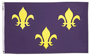 5x8 French Fleur de lis with Blue Background Historical Nylon Flag
