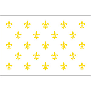 3x5 23 French Fleur de lis Historical Nylon Flag