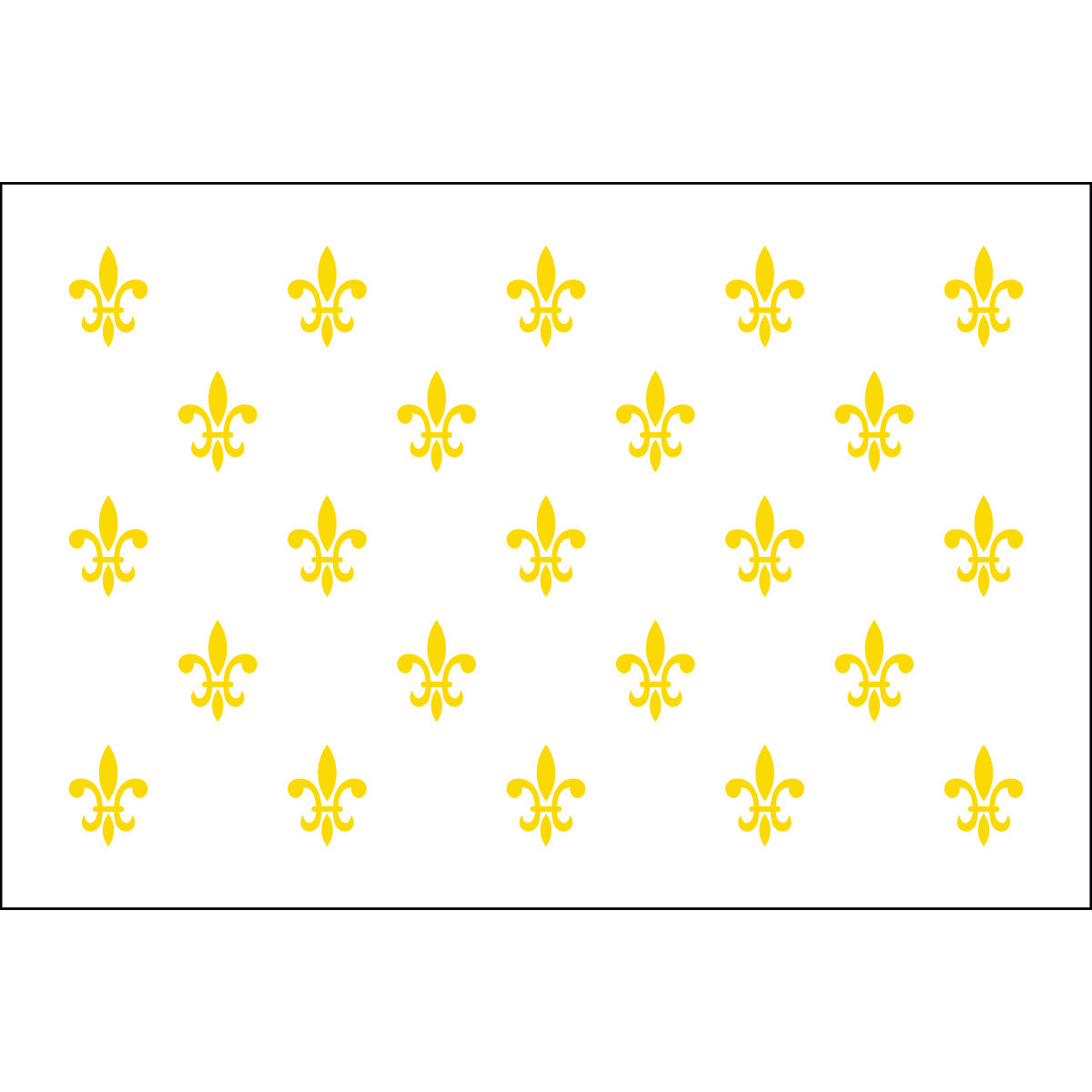 Load image into Gallery viewer, 5x8 23 French Fleur de lis Historical Nylon Flag