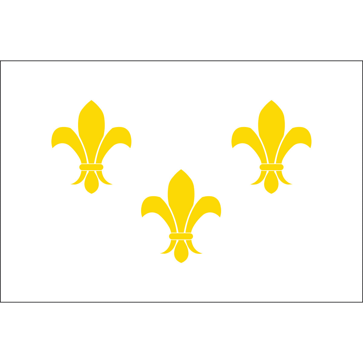 Load image into Gallery viewer, 2x3 French Fleur de lis with White Background Historical Nylon Flag