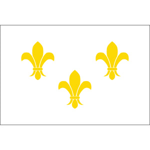 2x3 French Fleur de lis with White Background Historical Nylon Flag