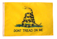 "Load image into Gallery viewer, 12""x18"" Gadsden Historical Nylon Flag"