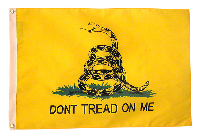 2x3 Gadsden Historical Poly-Cotton Flag