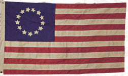 3x5 Heritage Series Betsy Ross Historical Antiqued Cotton Flag