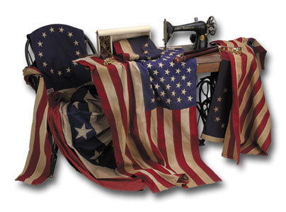3x5 US Heritage Series Antiqued Cotton Flag