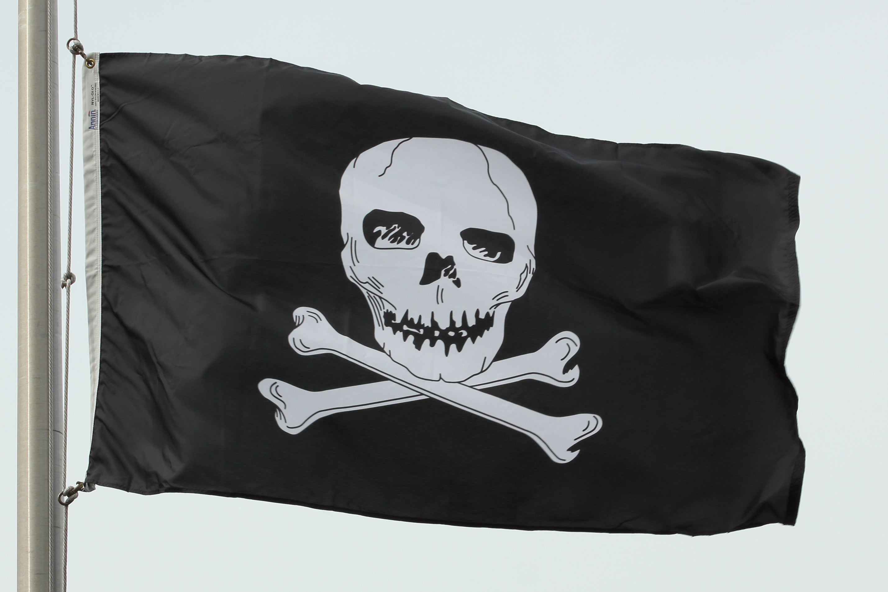 Load image into Gallery viewer, 3x5 Jolly Roger Outdoor Nylon Flag