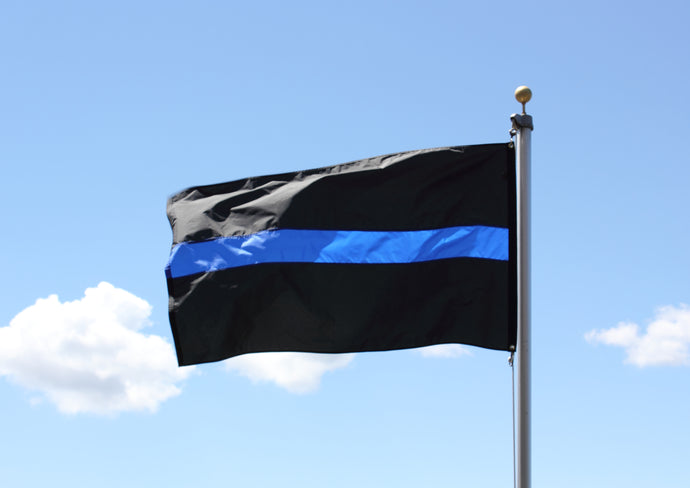 3x5 Thin Blue Line Outdoor Nylon Flag