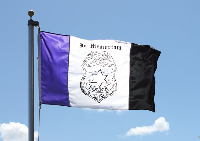 3x5 Police In Memoriam Outdoor Nylon Flag