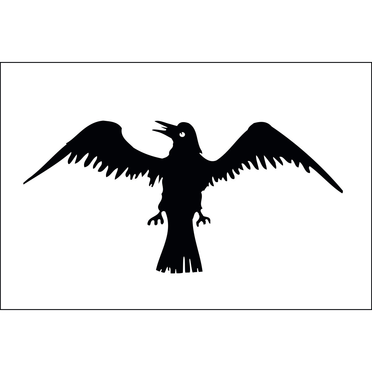 Load image into Gallery viewer, 3x5 Raven Historical Nylon Flag
