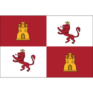 5x8 Royal Standard of Spain Lions & Castles Historical Nylon Flag