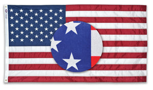 2.5x4 American Outdoor Printed Nylon Flag