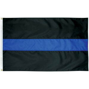 6x10 Thin Blue Line Outdoor Nylon Flag