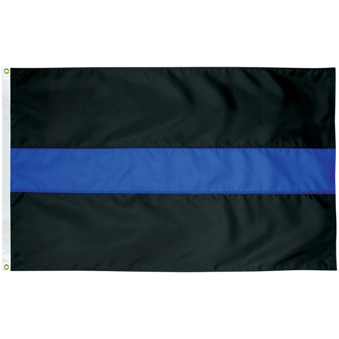 5x9.5 Thin Blue Line Outdoor Nylon Flag