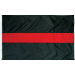5x9.5 Thin Red Line Outdoor Nylon Flag