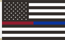 Load image into Gallery viewer, 3x5 Thin Red & Blue Line American Outdoor Nylon Flag