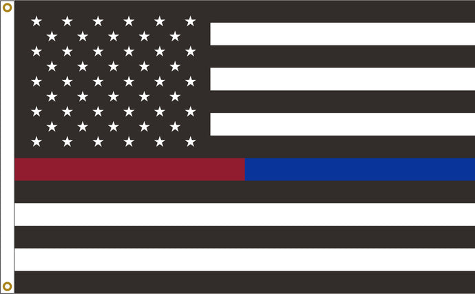 3x5 Thin Red & Blue Line American Outdoor Nylon Flag