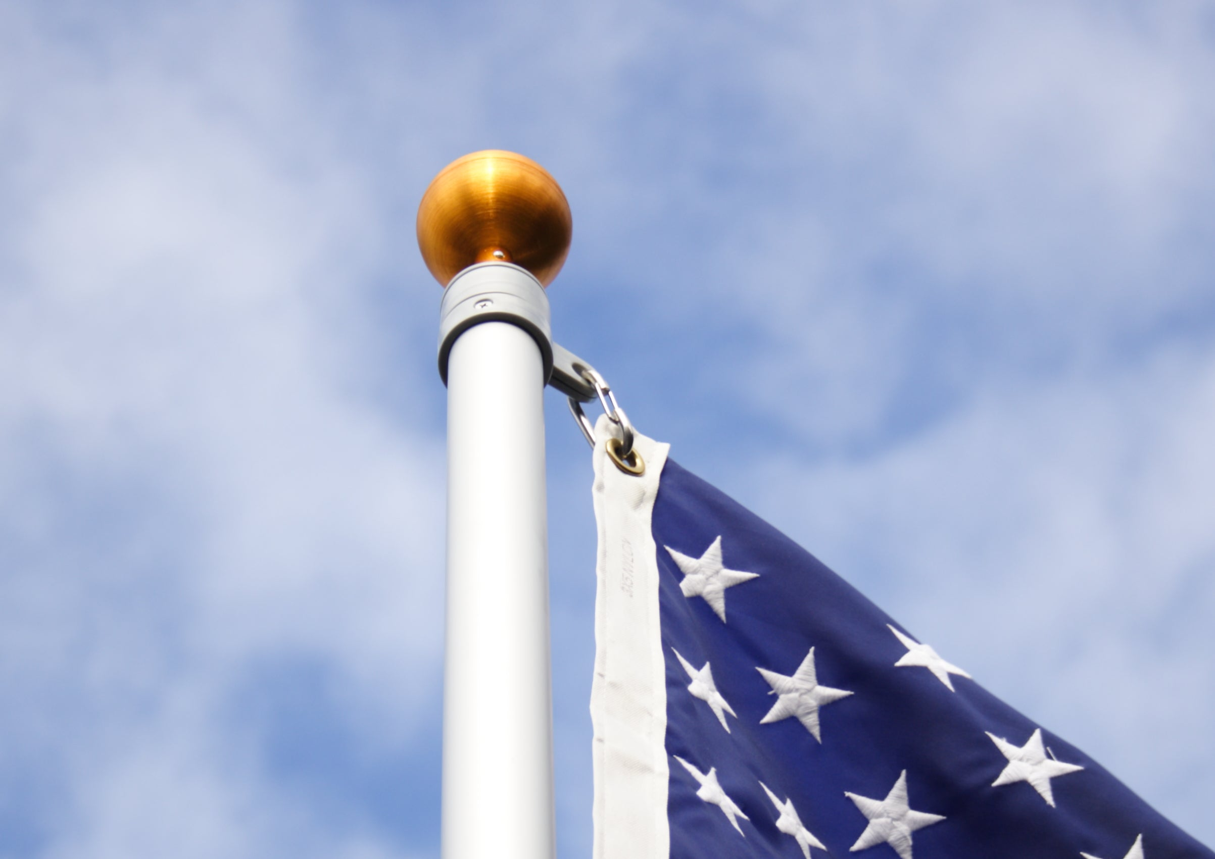 Load image into Gallery viewer, 15' Silver Telescoping Flagpole