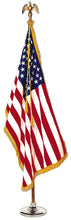 Load image into Gallery viewer, 3x5 American Indoor & Parade Nylon Flag with Sleeve & Gold Fringe