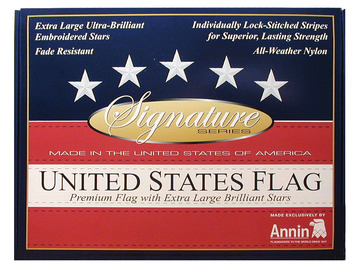 Load image into Gallery viewer, 3x5 American Outdoor Signature Series Nylon Flag