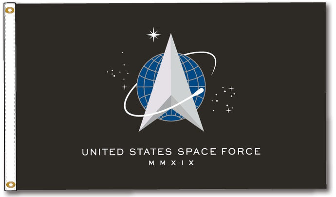 3x5 US Space Force Flag; Nylon H&G