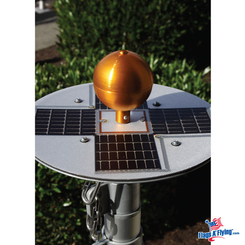 Titan Silver Solar Powered Illuminating Flagpole Light