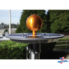 Load image into Gallery viewer, Titan Silver Solar Powered Illuminating Flagpole Light