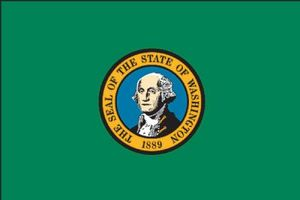 Load image into Gallery viewer, 3x5 Washington State Outdoor Polyester Flag