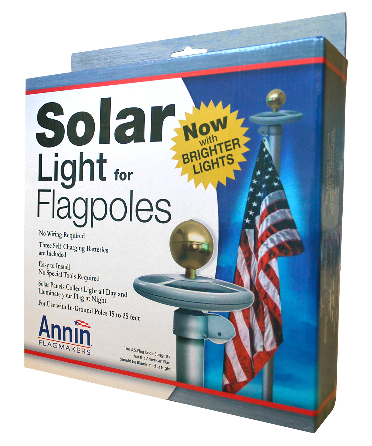 Load image into Gallery viewer, Solar Flagpole Light for 15'-25' flagpoles