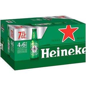 Heineken Lager 7oz 4x6 Packs
